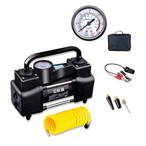 Mains mécaniques du contrôle de la pression des pneus 12V multifonctionnel portatif à double cylindre de pompe gonflable de voiture