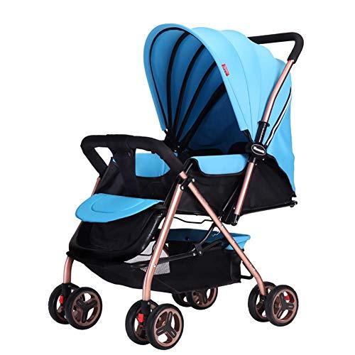 TYX Crossdresser High Landscape Kinderwagen Leichtgewichtler Faltbarer Allradwagen kann Sich hinsetzen können Tragbarer Baby Zweiwege-Kinderwagen,C