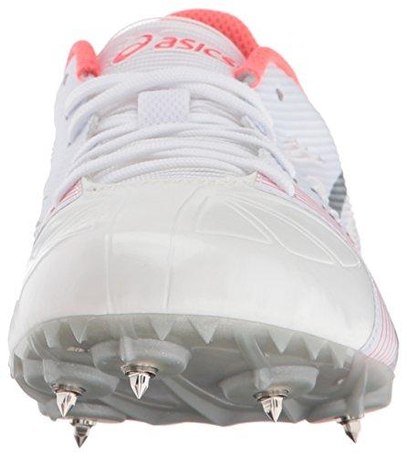 Asics Womens Hyper-Rocketgirl SP 6 Cross Country Spike Shoe White/Silver/Diva Pink