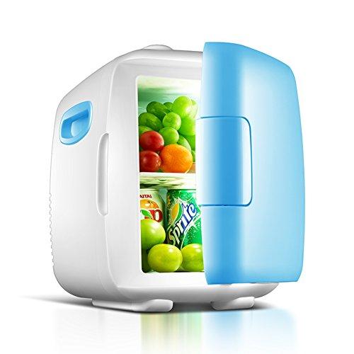 DULPLAY Elettrico Mini frigo portatile, Raffreddamento e caldi E DC portatile Sistema termoelettrico Compatto portatile & Per la casa, Ufficio e auto-4L 26.5x18.5x27cm(10x7x11)