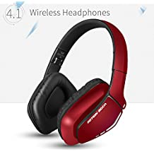 KOTION EACH Auriculares Bluetooth Wireless Headset B3506 Plegable Gaming Headset v4.1 con Microfono para PS4 PC MAC Smartphones Ordenadores(Rojo)