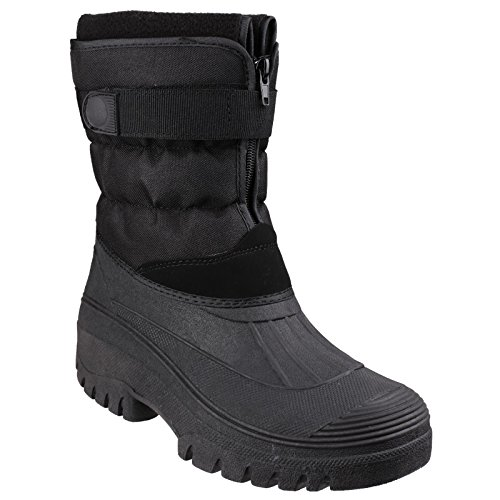 Cotswold Mens Chase Winter Snow Boots Black Black