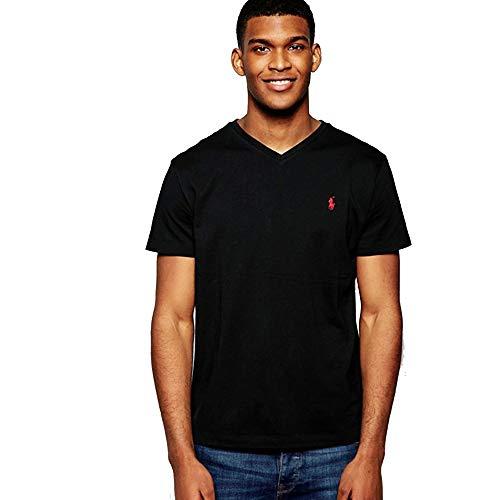 Ralph Lauren Herren T-Shirt V-Neck (XL, Polo Black)