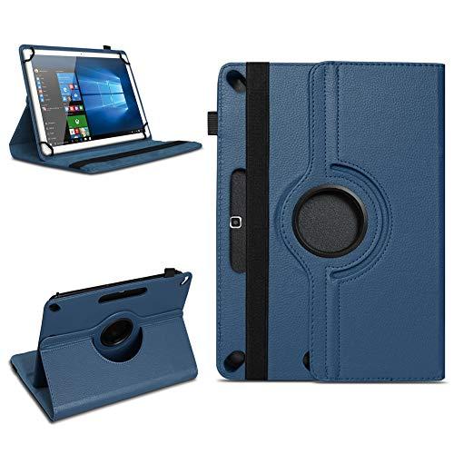 Tablet Tasche für 10 - 10.1 Zoll Hülle Schutzhülle Case Cover 360° Drehbar Neu, Farben:Blau, Modell:Acepad A96