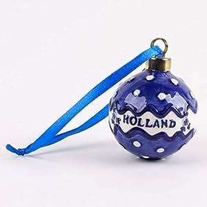 holland weihnachtsdekoration christbaumkugel keramik delfter blau weihnachtsbaum ornament. Black Bedroom Furniture Sets. Home Design Ideas