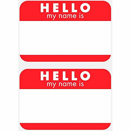 amscan 114.660,7 cm Hello My Name is Name Tags