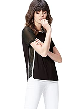FIND Sheer Sleeve_Short - Camiseta Mujer