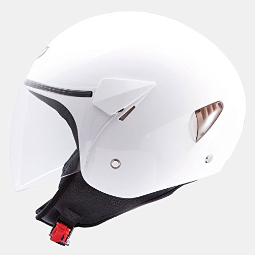 MT HELMETS CASCO TIPO JET MT CITY SPORT (L, BLANCO)