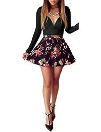 Ovender® Vestiti Eleganti Corti Mini da Donna Ragazza Abito Vestito Donne  Ragazze Impero Formale Elegante 8620767ec6b