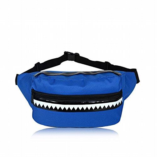 Hai Persönlichkeit Männer Und Frauen Allgemeine Geldbörse Harajuku Tasche Männer Leinwand Kleine Tasche Blau