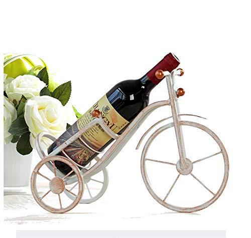 VUKUB Retro Dreirädrige Fahrrad Förmige Weinflasche Halter Wein Regal Regal Eisenskulptur...