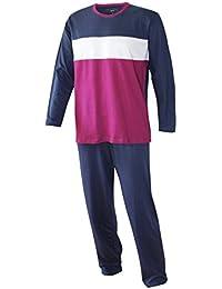 Herren Pyjama lang langarm Schlafanzug lang Herren Schlafanzug lang 100% Baumwolle Model MoonLine