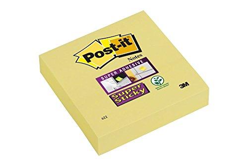 Postit Haftnotiz Super Sticky Notes 76x76 mm kanariengelb 90 Bl (12er pack )