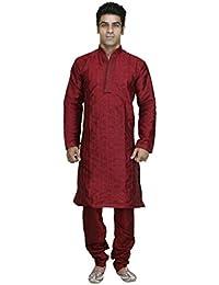 Royal Kurta Men's Designer Jacquard Pintex Sherwani