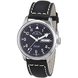 Zeno Watch Basel Unisex-Armbanduhr Basic Analog Automatik Leder 12836DDN-a1