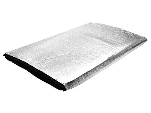 Fibega Isoliertes Groundsheet/Bodenplane/Zeltunterlage, 220g, 145x185cm - Silber