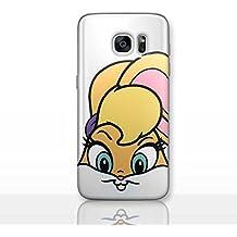 Looney Tunes Funda/Cubierta del Teléfono para Samsung Galaxy S8 (G950) con Protector de Pantalla / Silicona Suave de Gel/TPU / iCHOOSE / Lola Bunny