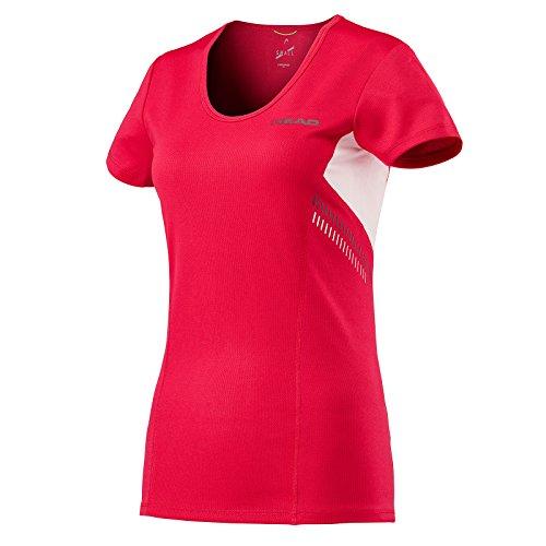 HEAD Club Technical T-Shirt Femme, Red, Moyen