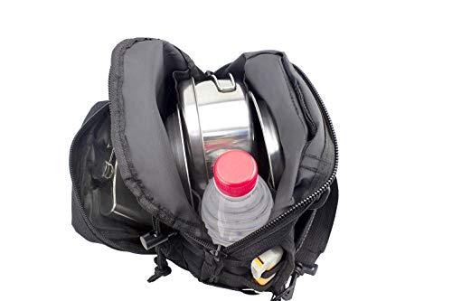 Shuweiuk Tactical Sling-Rucksack Militär Schulter Kasten EDC-Tasche für Outdoor-Sport Camp Wandern, schwarz - 9