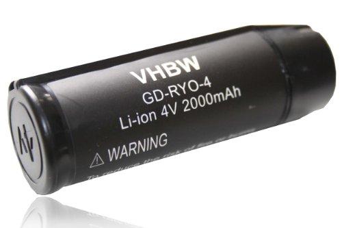 vhbw Li-Ion Akku 2000mAh (4V) für Werkzeuge RP4900, TEK 4, TEK4, Ryobi AP4001, Ryobi CSD42l, Ryobi RGS410 Strauchschere wie Ryobi AP4001.