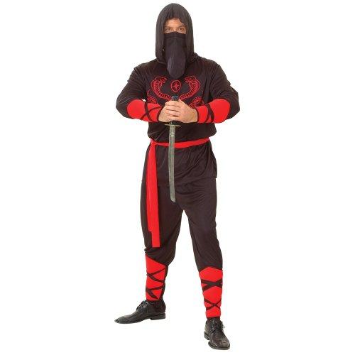 Imagen de wicked  disfraz de guerrero ninja para hombre, talla xl em 3003. xl