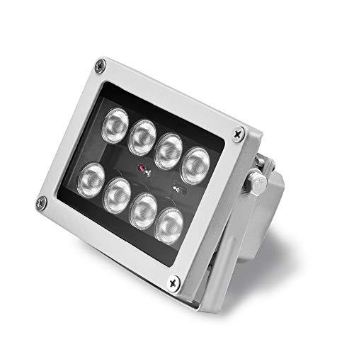 LED-Licht, 8 Stück, Array LED CCTV Füllung, IR-Beleuchtung, Infrarot-Lampe, Nachtsicht, wasserdicht, für CCTV, IP-Kameras (Web-streaming-video-kamera)