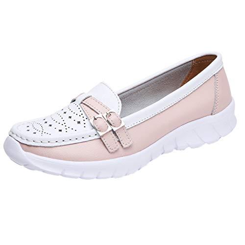 Masoness Frauen Casual Wild Criss Cross Strappy Aushöhlen Farbblock Bequeme Erbsen Schuhe Einzelne Schuhe Faule Schuhe -