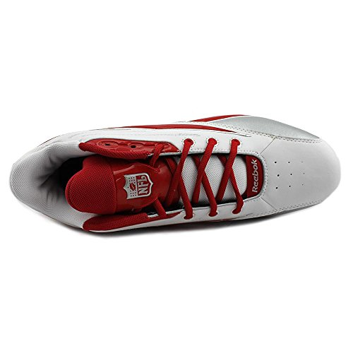 Reebok NFL Thorpe Mid D Leder Klampen White/Red
