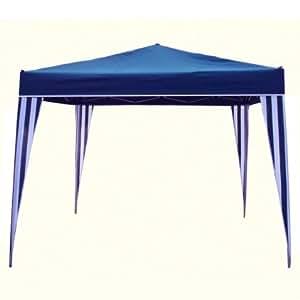 tonnelle pliante type parapluie 3 x 3 m bleu et blanc ose. Black Bedroom Furniture Sets. Home Design Ideas