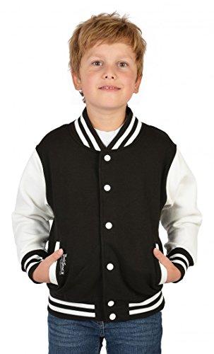 Jungen USA Collegejacke - Beale Street 56 - in schwarz - Geschenk / Rockabilly Outfit für Schule oder Freizeit, Kinder Größe:XL / 152
