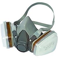 3M 6002 C1+R Kit respiratore riutilizzabile a semimaschera per gas, vapori e particolato, struttura a doppio filtro, 2 filtri A1 per vapori organici inclusi, peso del facciale 82 gr, colore grigio