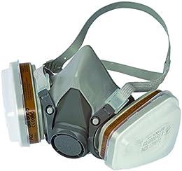 3M 6002C1 Respiratore per Gas e Vapori a Semimaschera, Bianco