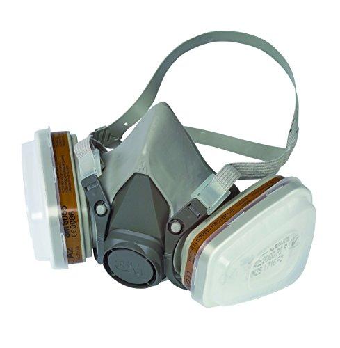 Preisvergleich Produktbild 3M Mehrweg-Halbmaske 6002C/Halbmaske mit Wechselfiltern gegen organische Gase, Dämpfe & Partikel/Für Farbspritz- und Maschinenschleifarbeiten