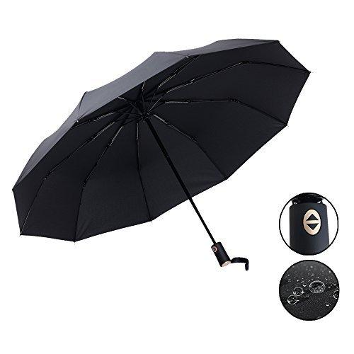Parapluie Pliant Coupe Vent Parapluie Solide et Compact avec 10 Baleines 210T Parapluie Incassable Ouverture et Fermeture Automatique pour Homme et Fe...