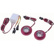 2 Piezas LED Rojo Ojo De Águila Trasero Copia seguridad Luz para motocicleta