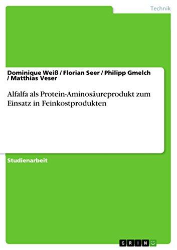 Alfalfa als Protein-Aminosäureprodukt zum Einsatz in Feinkostprodukten