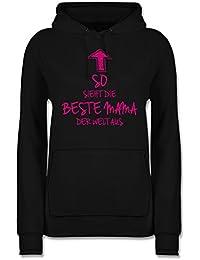 Beste Mama der Welt Stempel Shirtstreet24 Muttertag Mutter Lady//Girlie Kapuzen Hoodie Pullover