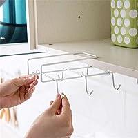 OUNONA Estante inferior taza soporte rack para armario de cocina