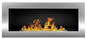 90 cm gel- and ethanol - fireplace STAINLESS STEEL gelkamin ethanolkamin bioethanol