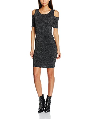 ONLY onlROMA LUREX 2/4 SHORT DRESS JRS, Vestito Donna, Nero (Black), 38 (Taglia Produttore: Medium)