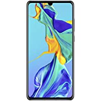 Huawei P30 Smartphone débloqué 4G (6,1 pouces - 6/128Go - Double Nano SIM - Android 9) Noir [Offre sans bon d'achat]