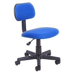 Oficina Essentials Gas Lift Altura Ajustable Silla de Oficina, Tela, Color Azul