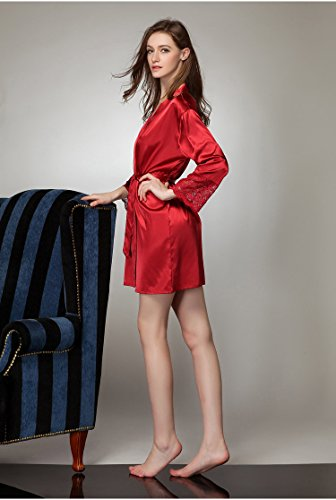 Tonwhar - Robe de chambre - Femme Multicolore - Rouge vin