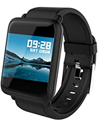 Smart Watch Android Touch Screen Fitness Tracker Blood Pressure Heart Monitor Pedometer Activity Tracker BP HR Calorie Waterproof Color iOS Smart Watches for Men Women