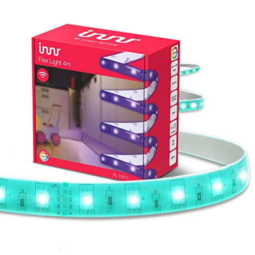 Innr Flex Light Color, 4 meter Smart LED Streifen, compatible with Philips Hue* und Amazon Echo Plus, dimmbar, RGBW, FL 130C