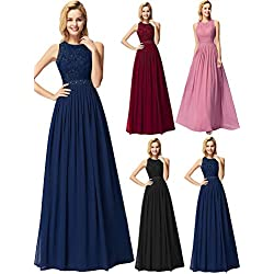Ever-Pretty Robe de Soirée Femme Longue Robe de Bal Cérémonie Mariage Bleu Marine 42