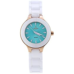 Leopard Shop Angie ST7175L Ladies Quartz Wrist Watch Macaroon Series Ceramic Band #3