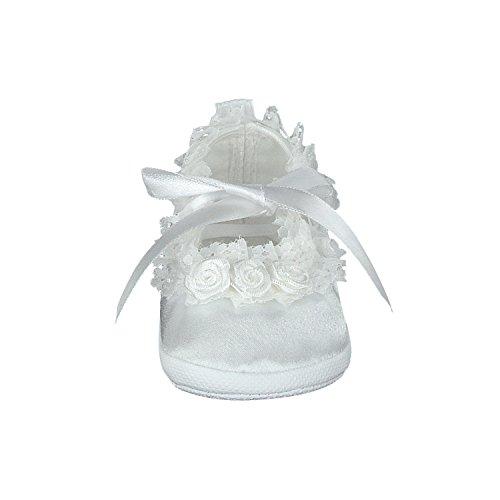 pantau.eu Taufschuhe Babyschuhe Lauflernschuhe Kinderschuhe Krabbelschuhe, festliche Baby Schuhe, Satin Weiß