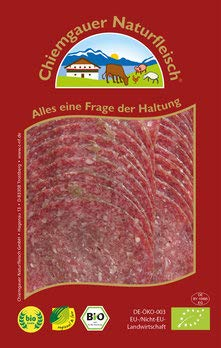 Chiemgauer Naturfleisch Bio Edelsalami (6 x 80 gr)