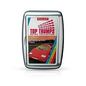 Top Trumps Exotic Deportes Coches Retro Juego de Cartas